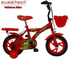 Sweet Heart Paris CB1201 TANK Children Bicycle (New Design Red) For Children Age 2 To 4 Years