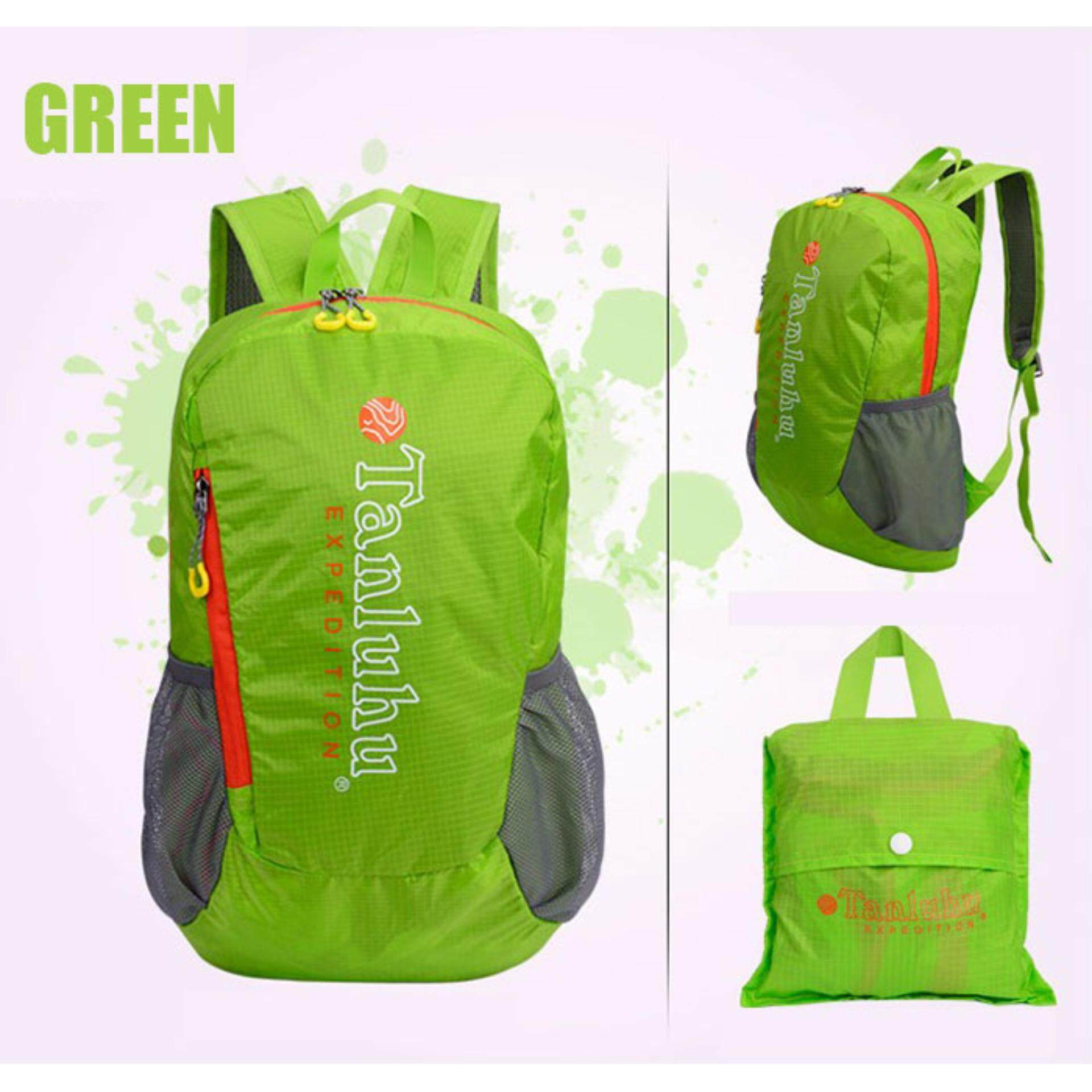 [CLEARANCE SALE] (FREE DELIVERY) Tanluhu 20L Travel Bagpack Travel Bag Water Resistant Foldable Outdoor Bagpack - Green
