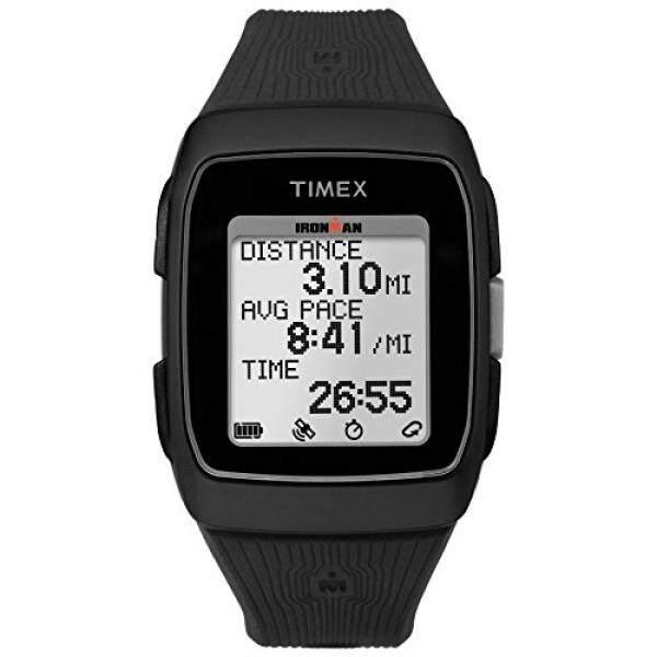 Timex Unisex TW5M11700 Ironman GPS Black Silicone Strap Watch - intl