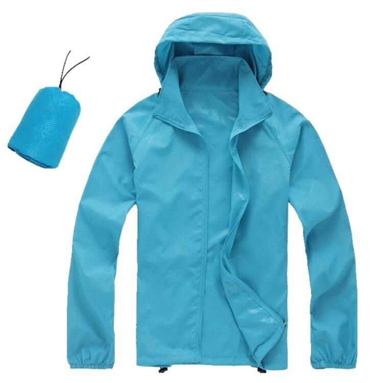 Unisex Lightweight & Breathable Sport Jacket Sky Blue