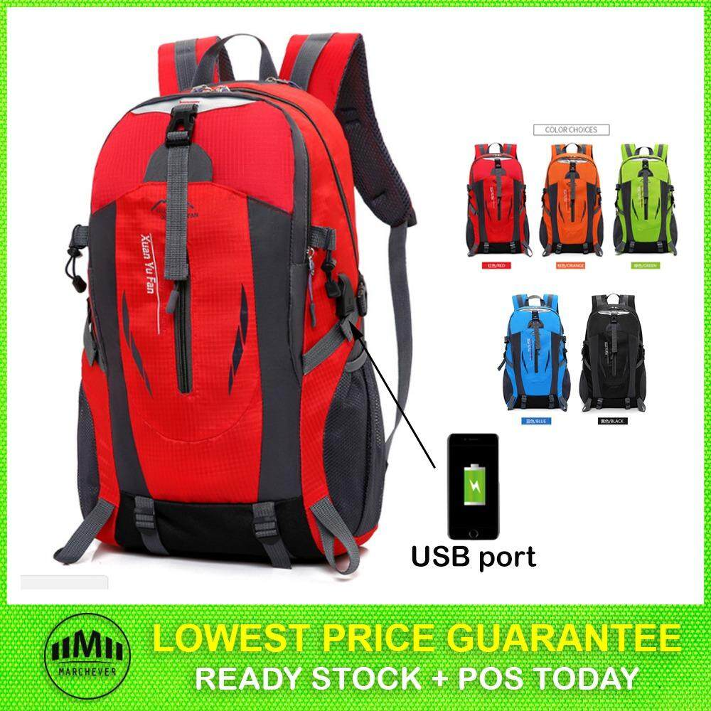 Unisex Men Women Waterproof Outdoor Sports Backpack USB Bag