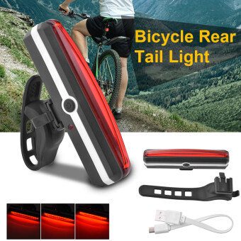 Harga USB Rechargeable LED Bicycle Bike Cycling Rear Tail Light 6 ModesLamp Set CS411