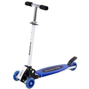 Harga Warbase Young Style Foldable Wheel Balance Kick Scooter (Blue)