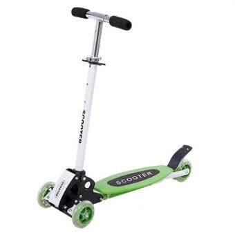 Harga Warbase Young Style Foldable Wheel Balance Kick Scooter (Green)