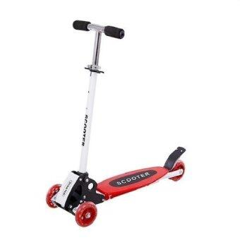 Harga Warbase Young Style Foldable Wheel Balance Kick Scooter (Red)