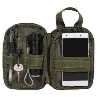 Waterproof Tactical Waist Bag Outdoor Compact Cellphone Pouch (Green)