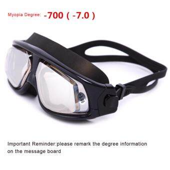 WHALE Swim Goggles With Myopia Dgree, Swimming Goggles Anti Fog NoLeaking UV Protection Optical Waterproof Eyewear OPT-6100