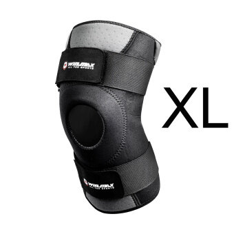 Winmax Neoprene Elastic Open Patella Adjustable Knee ProtectorKneepad XL (Black)