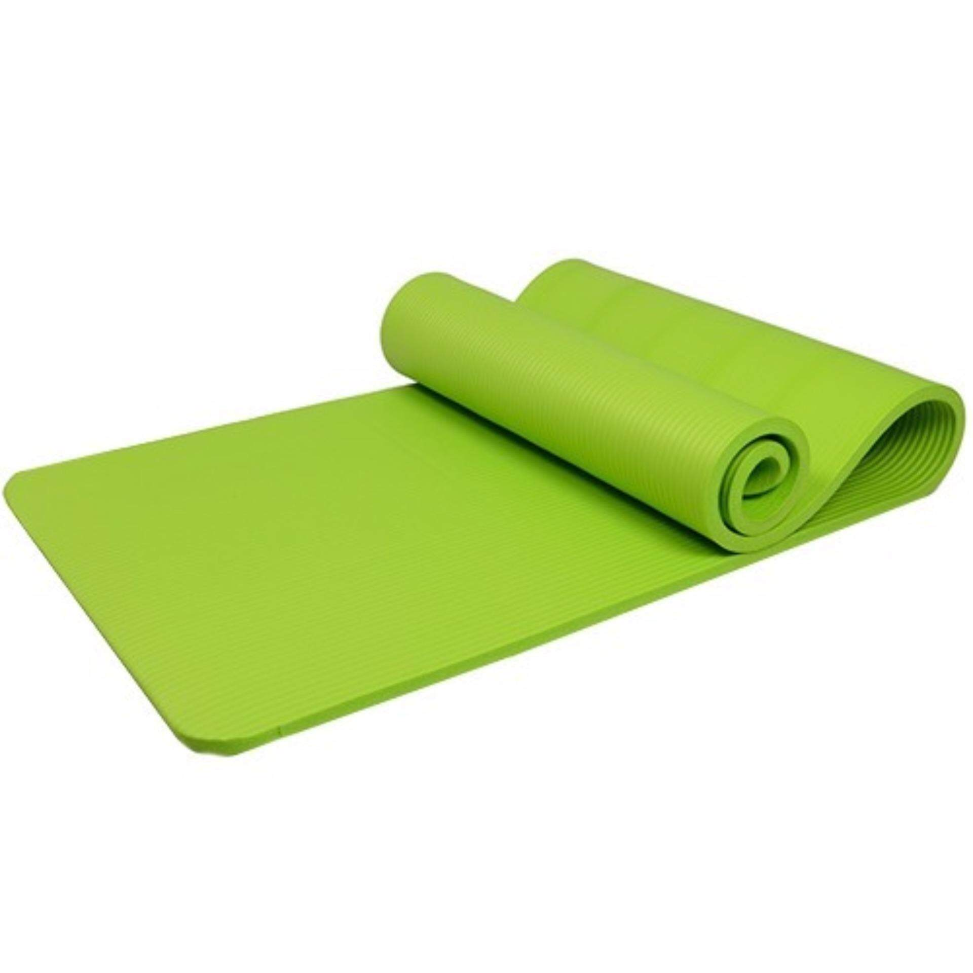 Yoga Mat 10mm/ 80x183cm Extra Wide/Anti-slip/impact Cushioned/free Strap-GREEN/BLUE/PINK/PURPLE