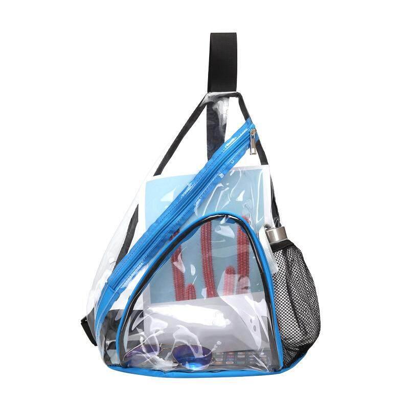 85c3afa3ea3c Clear PVC Sling Bag -Transparent Shoulder Crossbody Backpack for Women &  Men,Perfect for Work, Travel, Stadium and Concerts