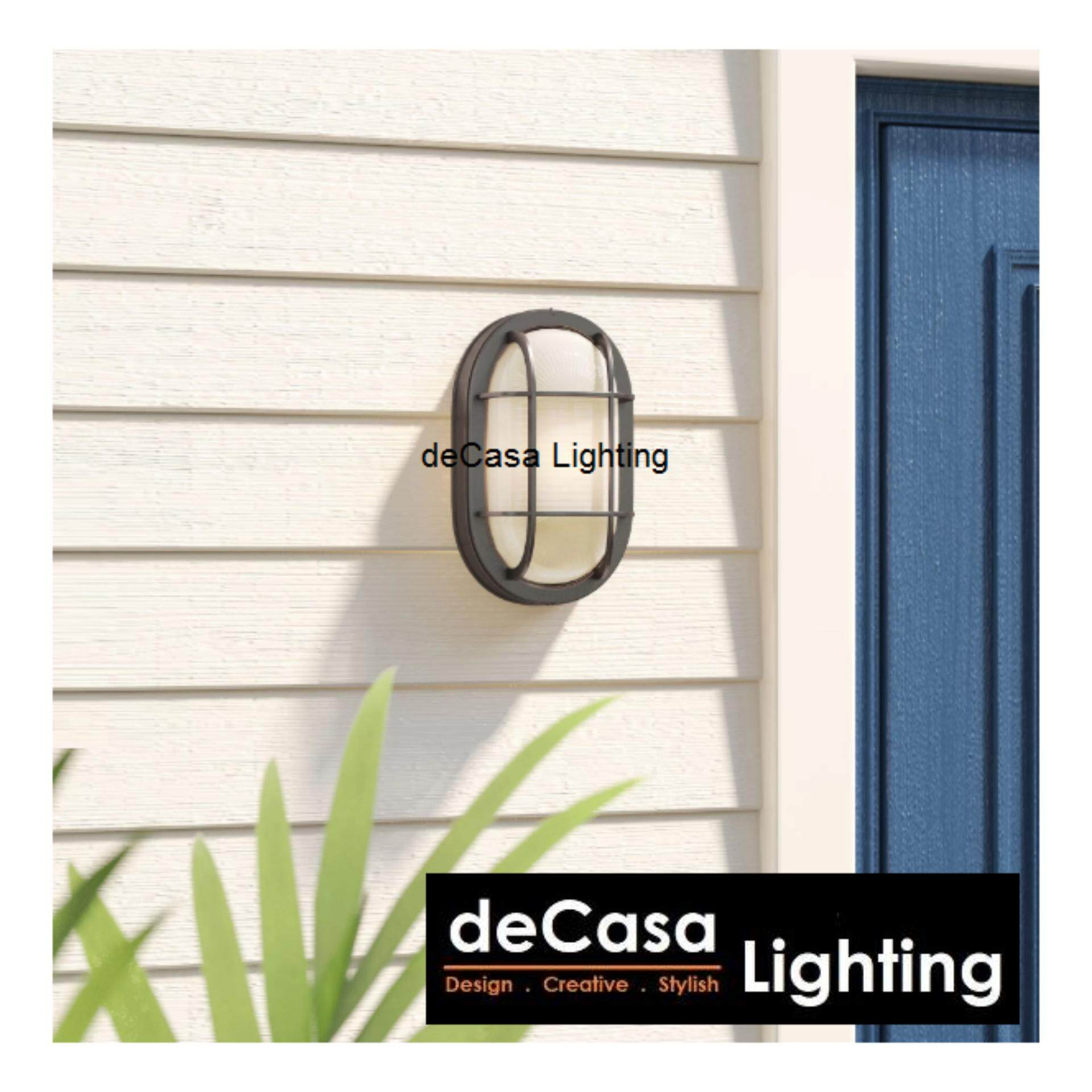 DECASA Wall Light Ceiling Light Bulk Head Large Size Black / White (CM-SY-FA8074-L)
