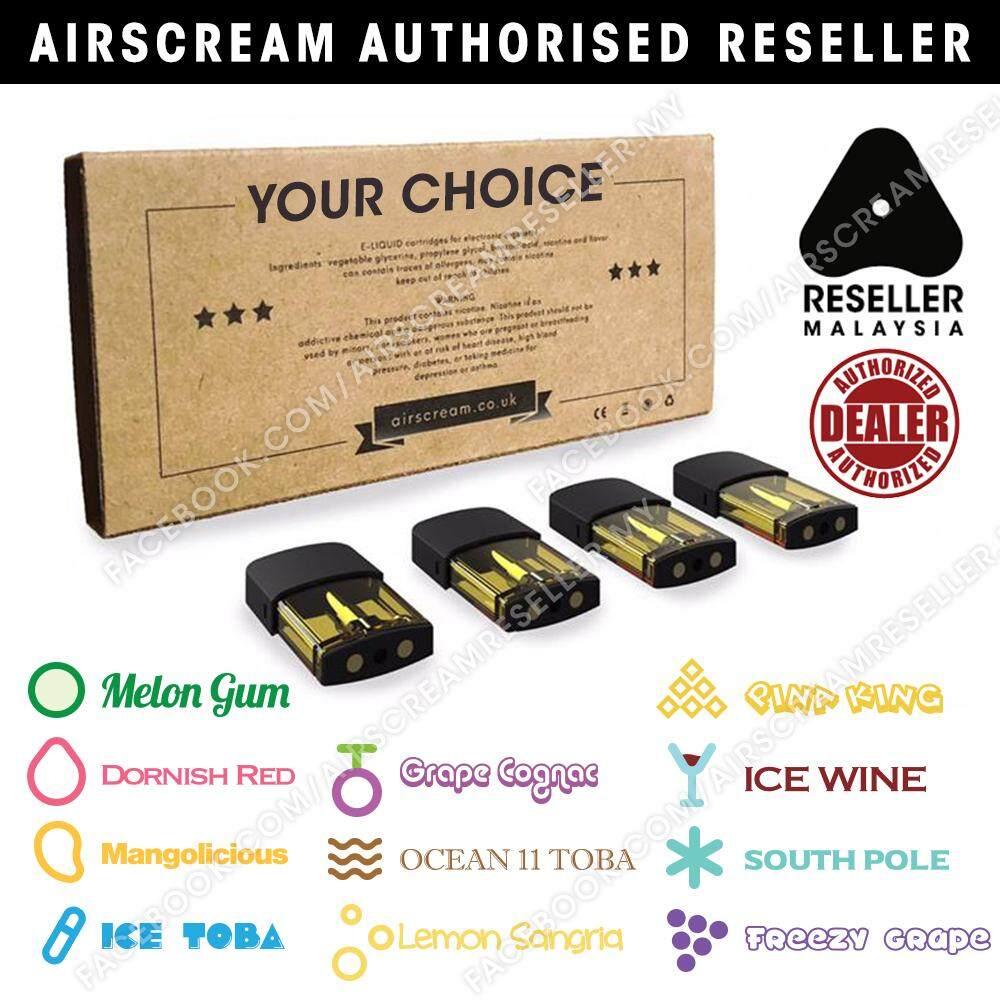 Airscream Airspops Cartridge Pod Flavour (4 Cartridges)
