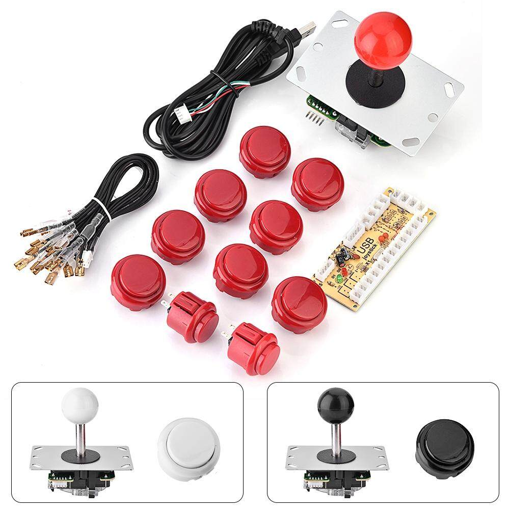 Advanced Controllers - Arcade Game DIY Parts Kit Zero Delay USB Encoder +  Joystick + Button for Mame - [BLACK / WHITE]