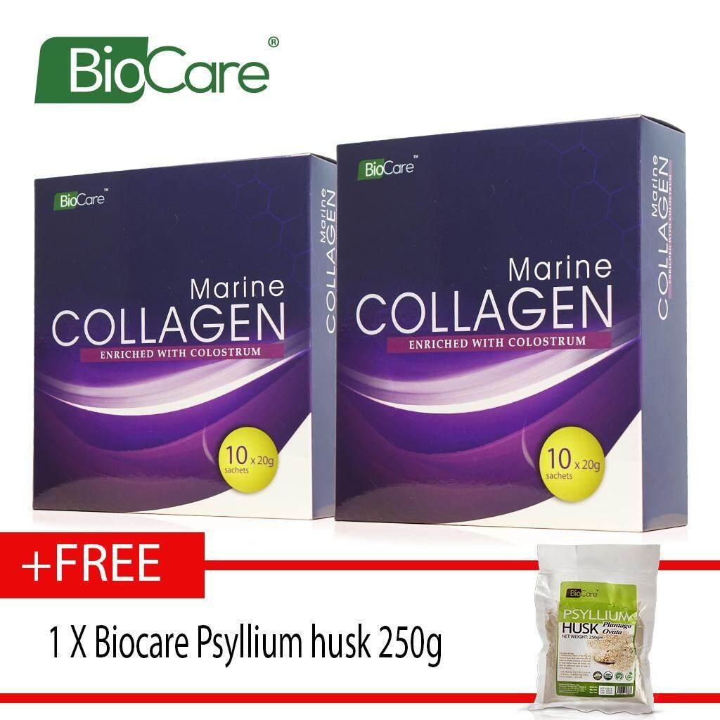 Biocare Marine Collagen X2 boxes Free Psyllium husk