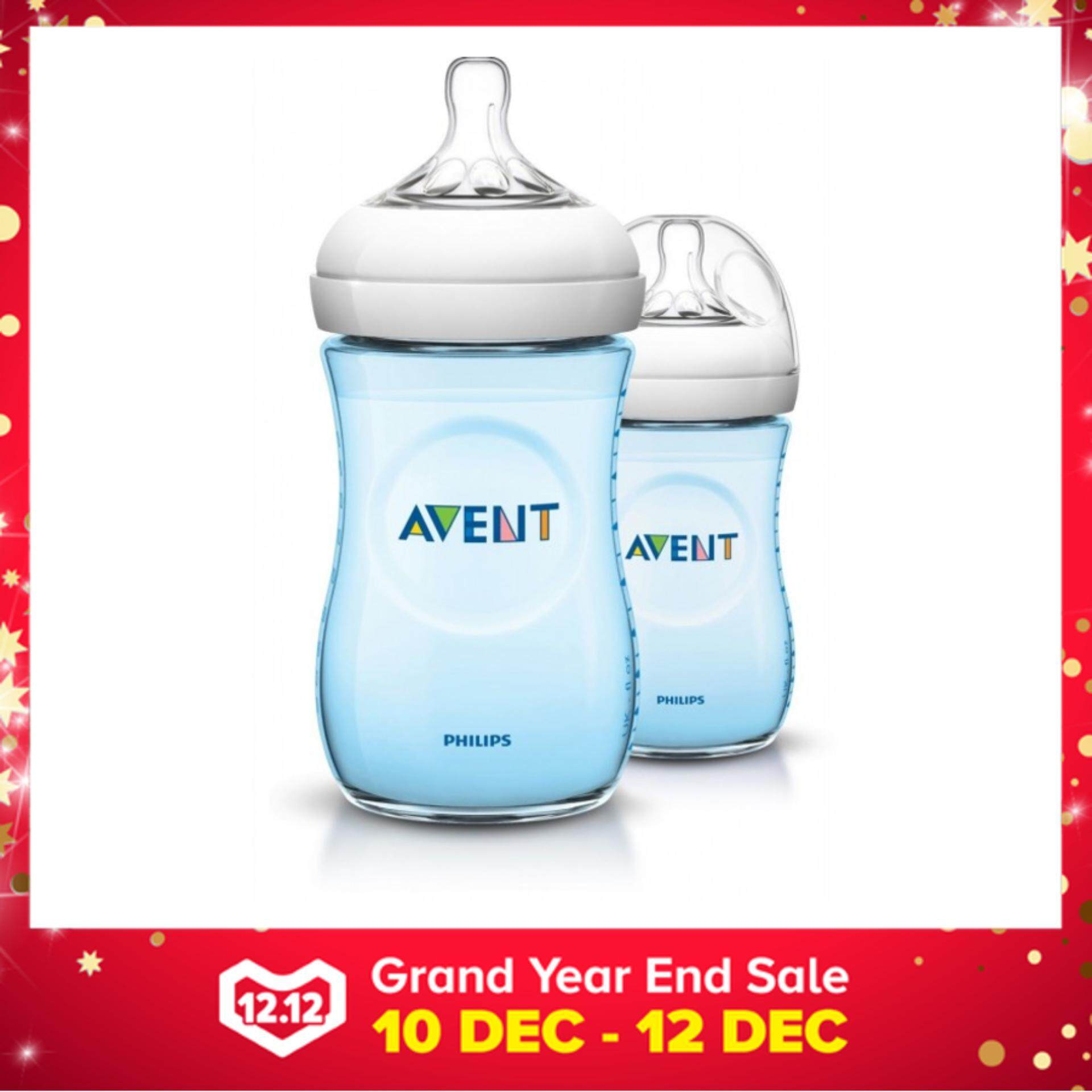 Philips Avent Bottle Natural 9oz / 260 ml (Blue) - Twin Pack