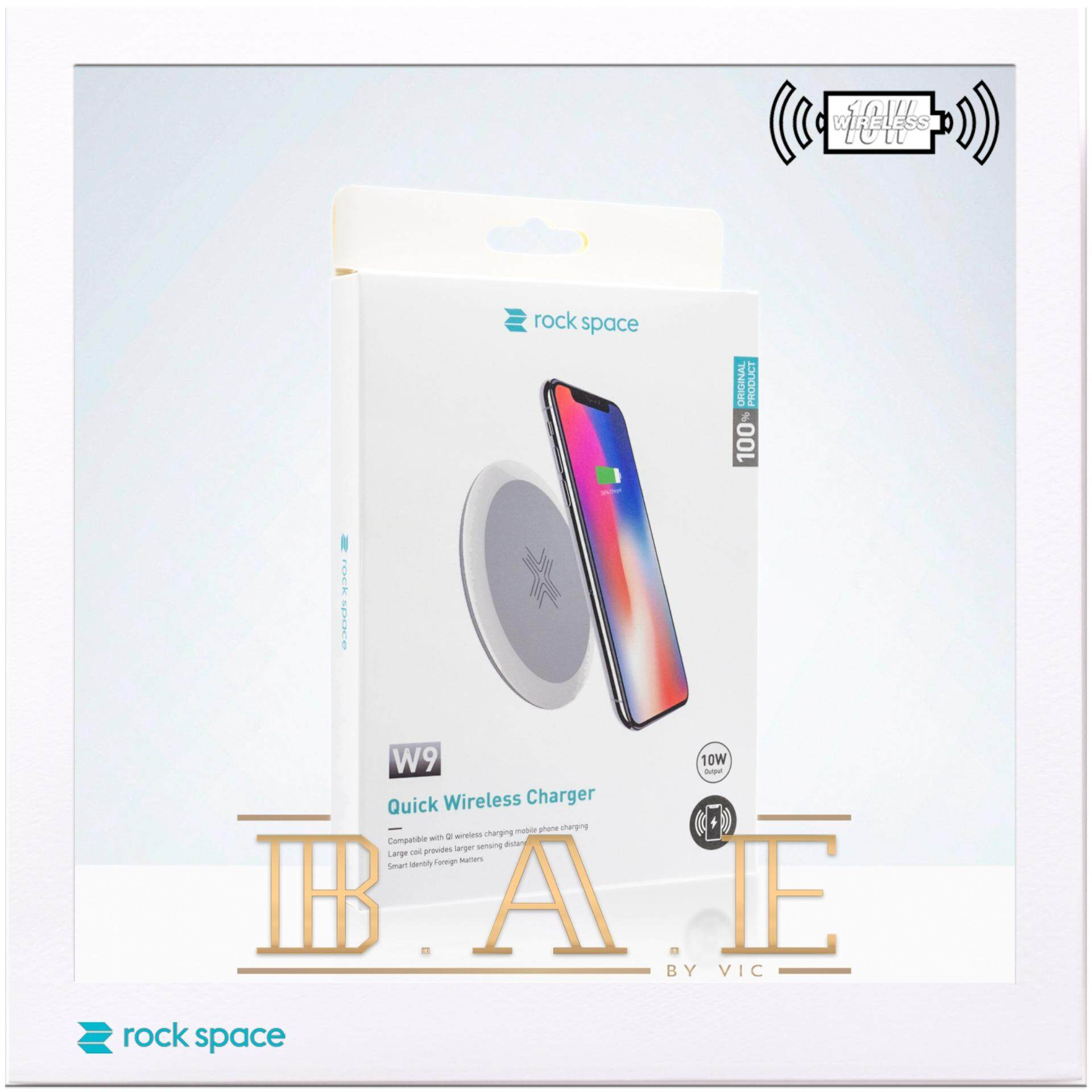rock space W9 10W Output Fast Charging Qi Wireless Charger for Samsung iPhone XS XS Max XR