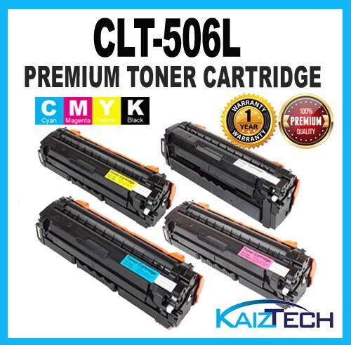 506L / CLT-506L / 506 Premium Compatible CYMK 4 Units Set Toner Cartridge For CLP-680 / CLP680 / CLP680ND / CLP680NW / CLX-6260 CLX6260 CLX6260ND CLX6260FD CLX6260FR CLX6260FW Printer Toner
