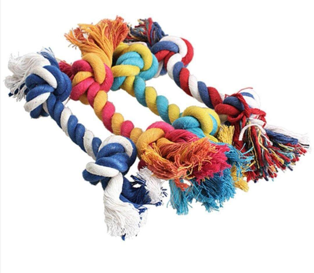 DOGS / PUPPIES COTTON BRAIDED DOUBLE KNOT ROPE (ANTI-BITE) - 3pcs