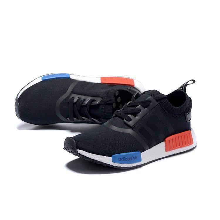 Promosi Adidas Pria Wanita Runner Primeknit Meningkatkan Sepatu Lari  Hitam Merah 3a7e29d6a2