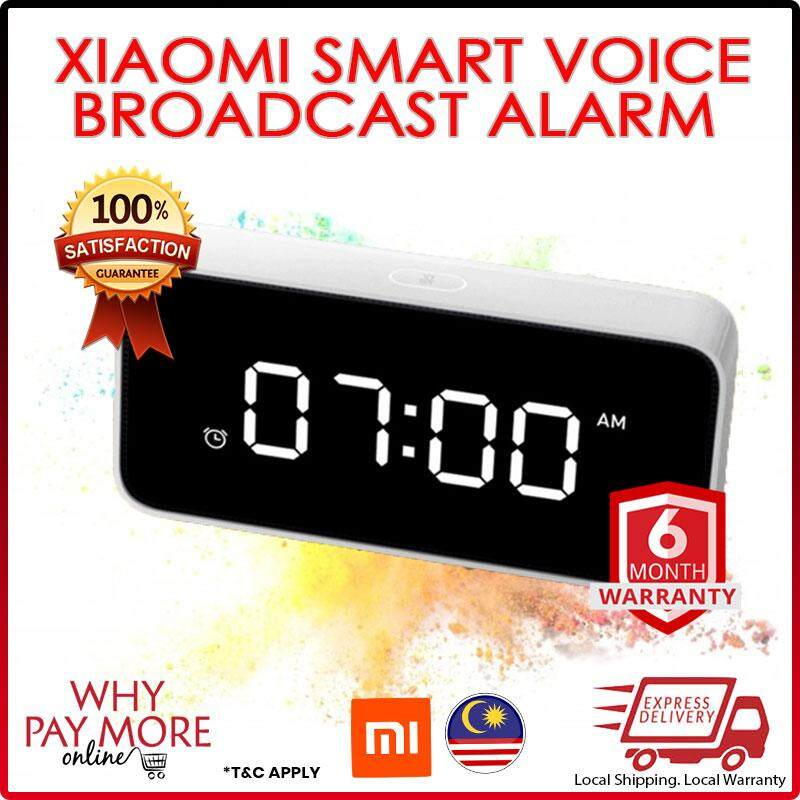 Xiaomi Xiaoai Smart Alarm Clock ABS Mi Table Desktop Clocks Time Calibration Mijia