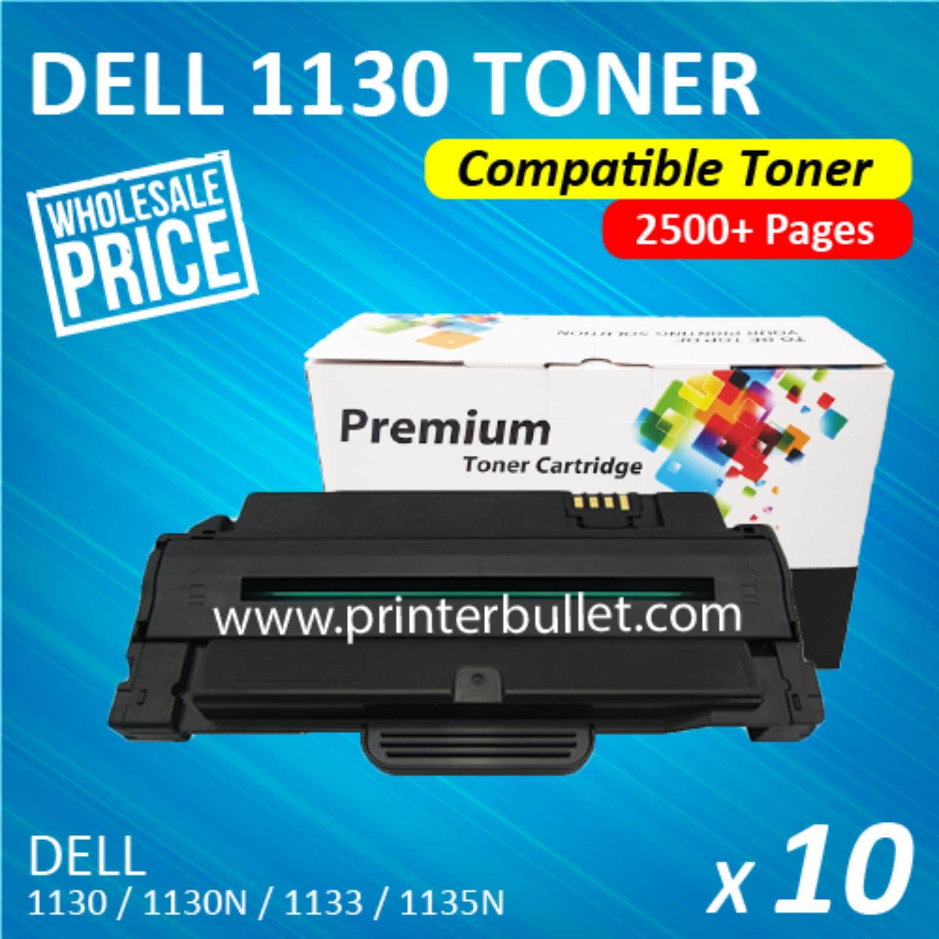 10 unit Dell 1130 / 1130N / 1133 / 1135 / 1135N Compatible Laser Toner Cartridge