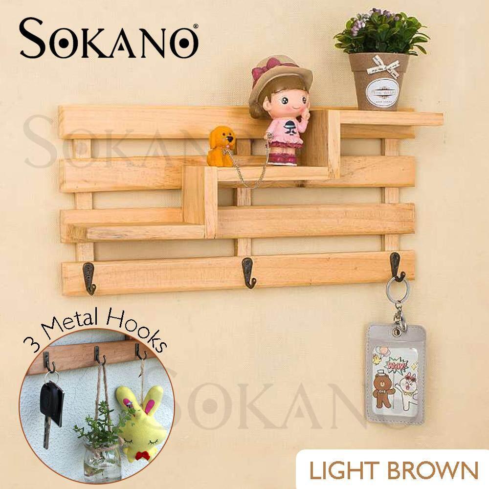 SOKANO ES006 Deco Shelf Wall Rack Home Decoration Hanger Living Room Decor Key Shelf