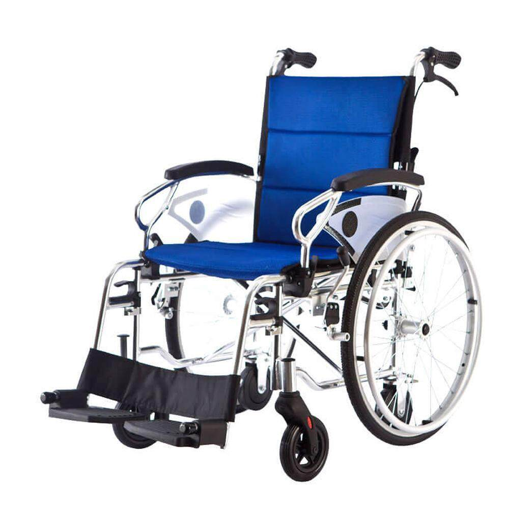 MW-150 Lightweight Wheelchair with 6 Wheels Foldeable