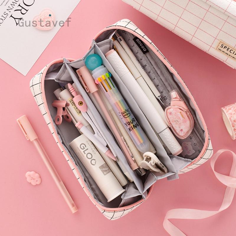 กล่องดินสอสไตล์ญี่ปุ่น กล่องใส่เครื่องเขียนสารพัดประโยชน์ลายหัวใจเด็กผู้หญิงน่ารัก กล่องดินสอ กระเป๋าดินสอ เครื่องเขียน