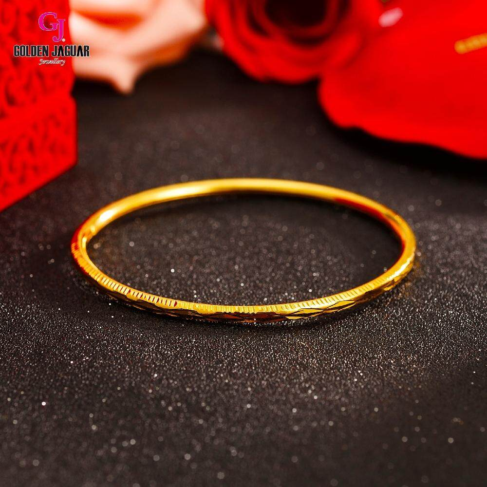 GJ Jewellery Emas Korea Bangle - Krush Kikir 1pc Slip-On (5565839)