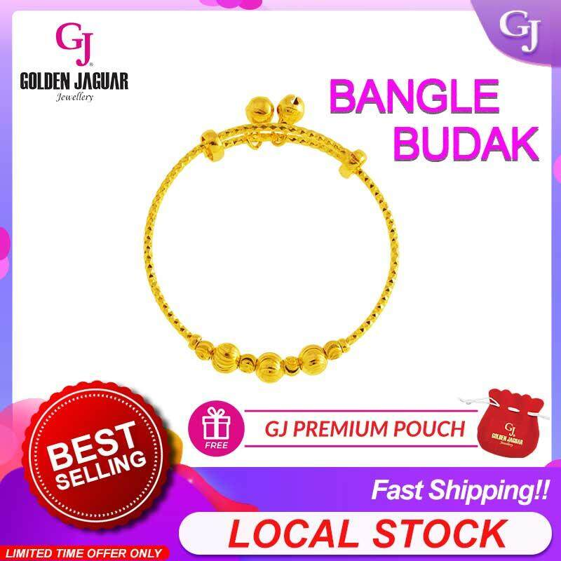 GJ Jewellery Emas Korea 24k Gelang Tangan Budak - Adjustable Kids Bangle (GJJ-99619-1)