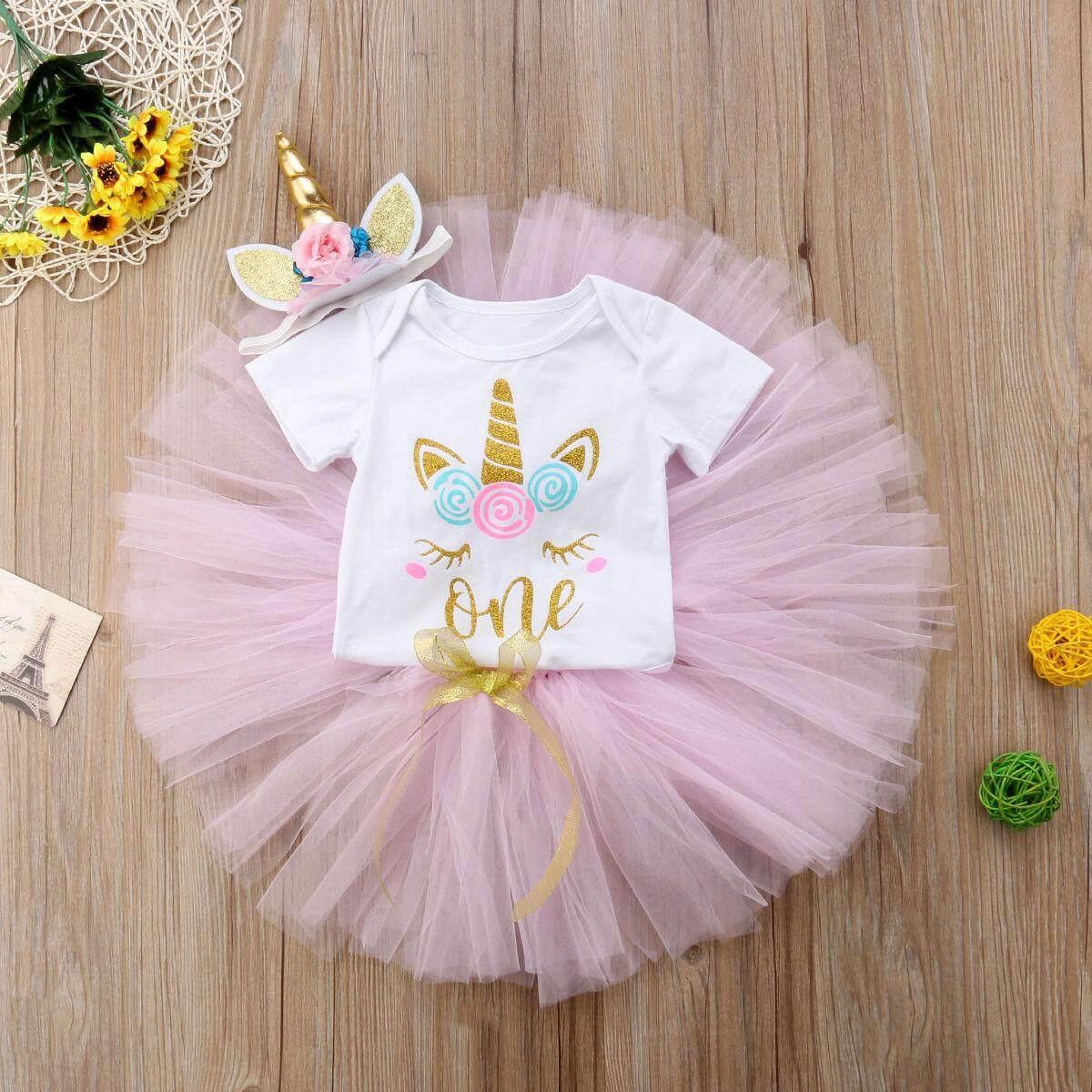 Review Unicorn Bayi Perempuan Baru Lahir Atasan Katun Jumpsuit Rok