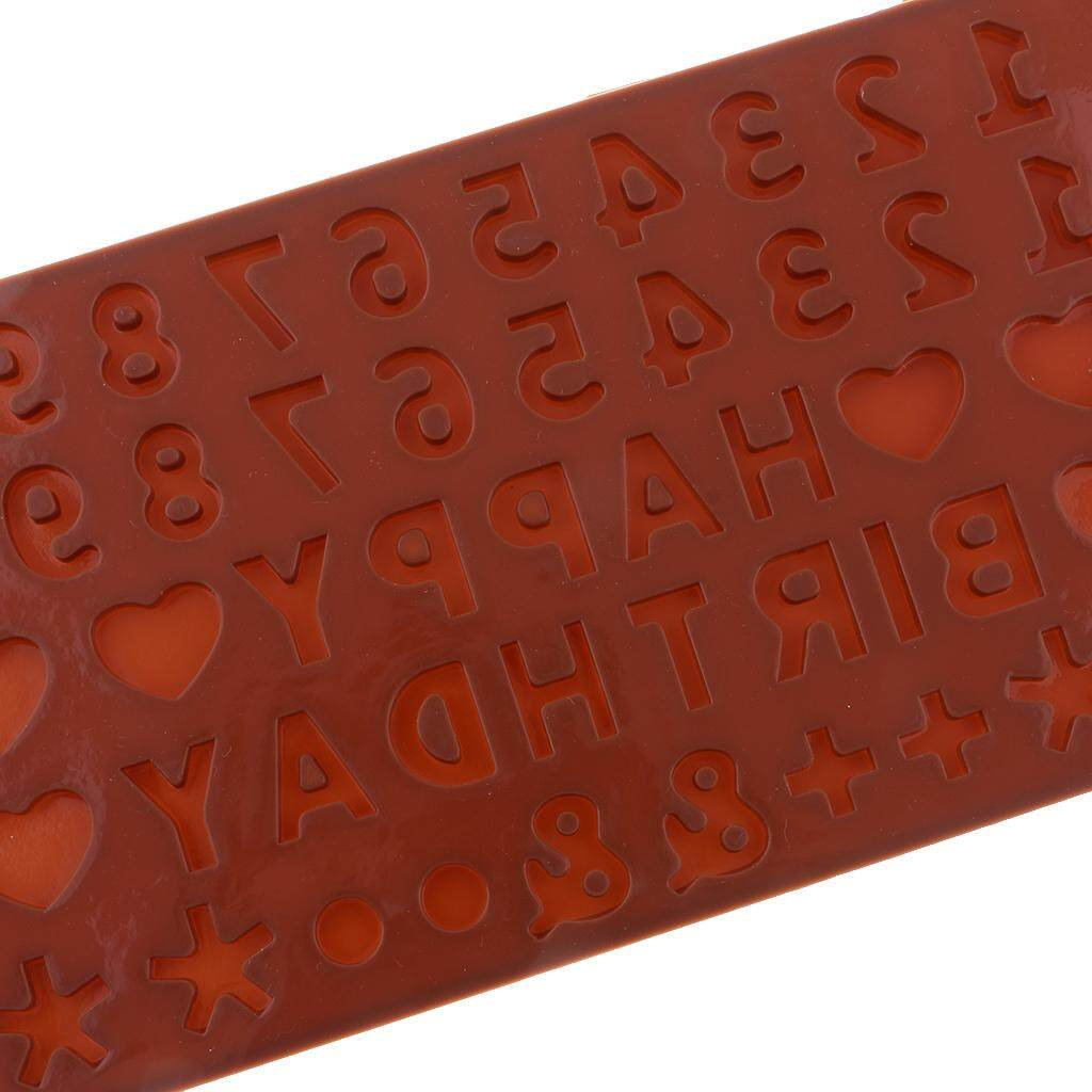 ... Loviver 2 Buah Huruf Alfabet Nomor Silikon Cetakan Fondan Kue Dekorasi Cetakan Pemanggang Coklat - 3 ...