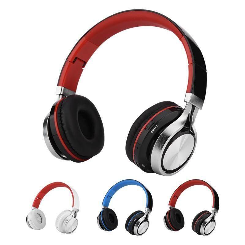 Over-Ear Headphones - Foldable Wireless Bluetooth Headphones Stereo Sound  Over Ear Headphones - [BLACK + BLUE / RED + WHITE]