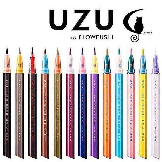 [Grachu Store] UZU by Flow Fushi Mote EyeLiner - Light Blue - Original from Japan - New Packaging (READY STOCK)