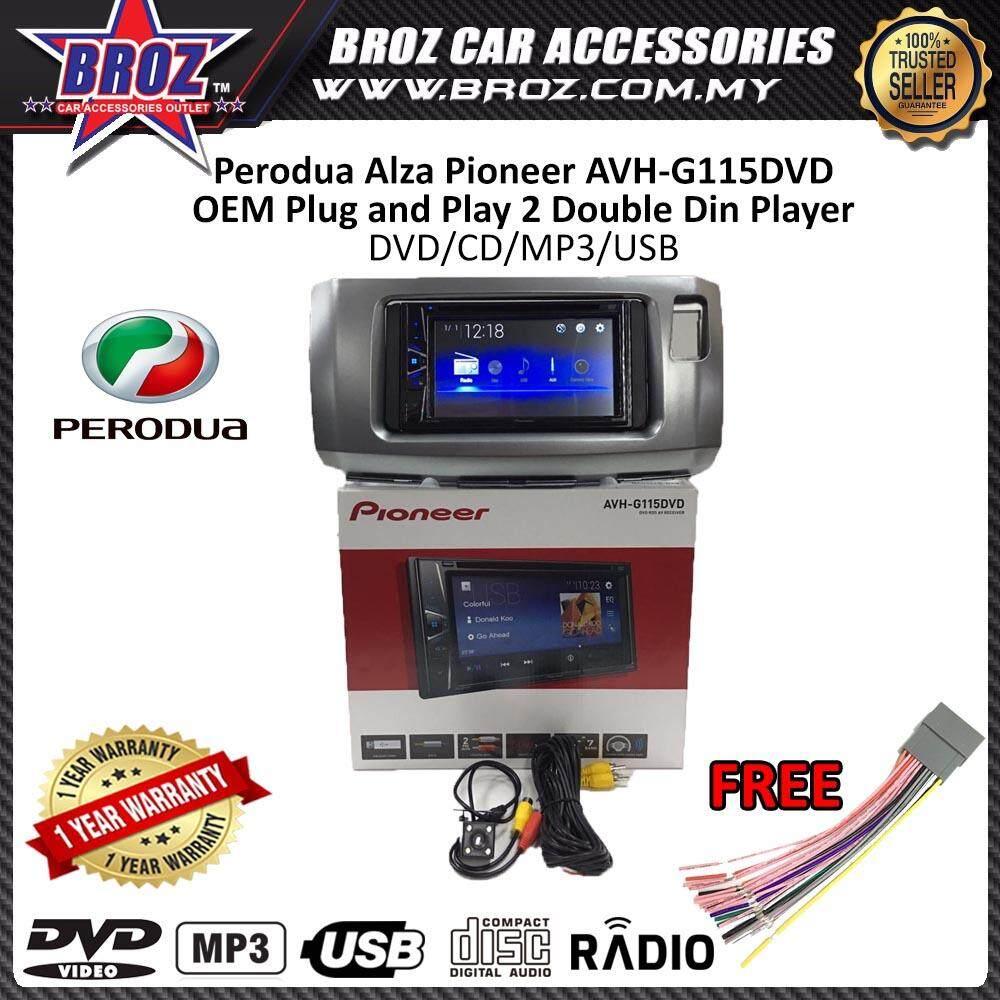 "Perodua Alza Pioneer AVH-G115DVD OEM Plug and Play 6.2"" Double Din XNRC PIONEER COLOR"