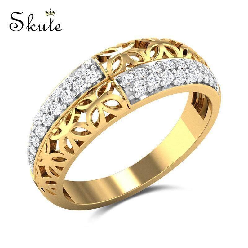 ... Wanita 18 KB Nyata Emas Berlapis Hadiah Mode Perhiasan (Emas)   Lazada Indonesia. Source · Skute 14 K Gold Berlapis Cincin dengan Zirkon Bunga Princess ...