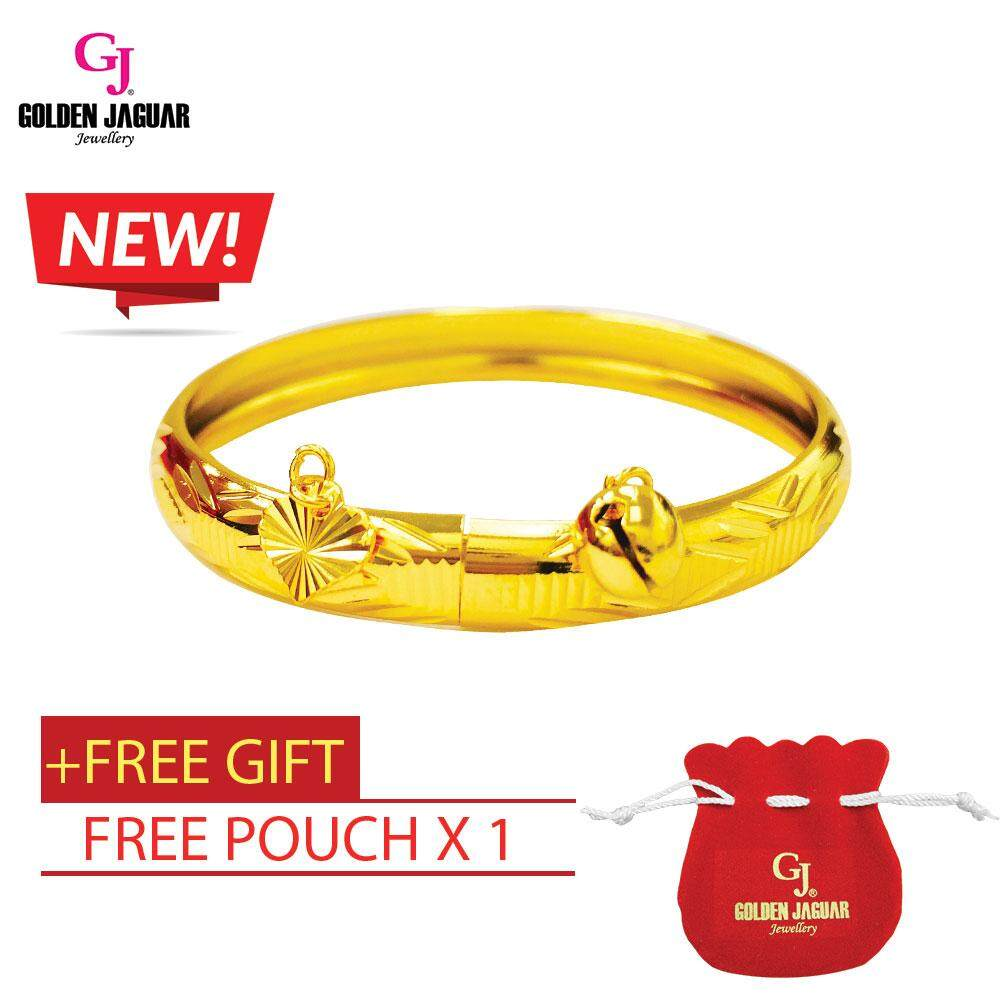 NEW GJ Jewellery Emas Korea Bangle - Amazon Kikir + Loceng - Kids / Hook (9564246)