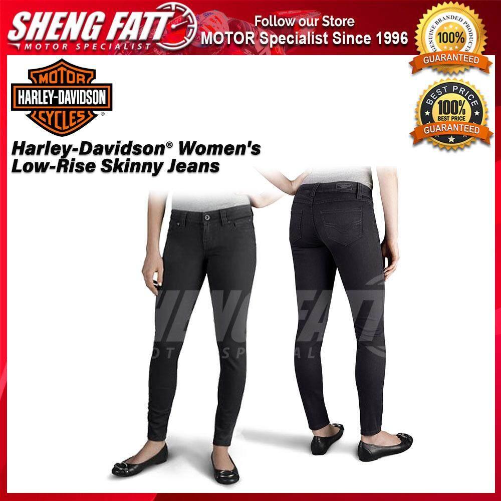 Harley-Davidson® Women's Skinny Low-Rise Jeans Black - [ORIGINAL]