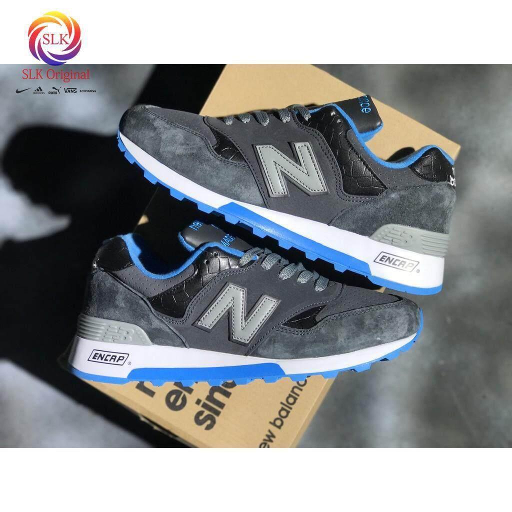 ยี่ห้อไหนดี  นครศรีธรรมราช NEW BALANCE 577 nb577 สีน้ำเงินเข้มผู้ชายชุดกีฬาวิ่งสตรี breathableshoe36-44
