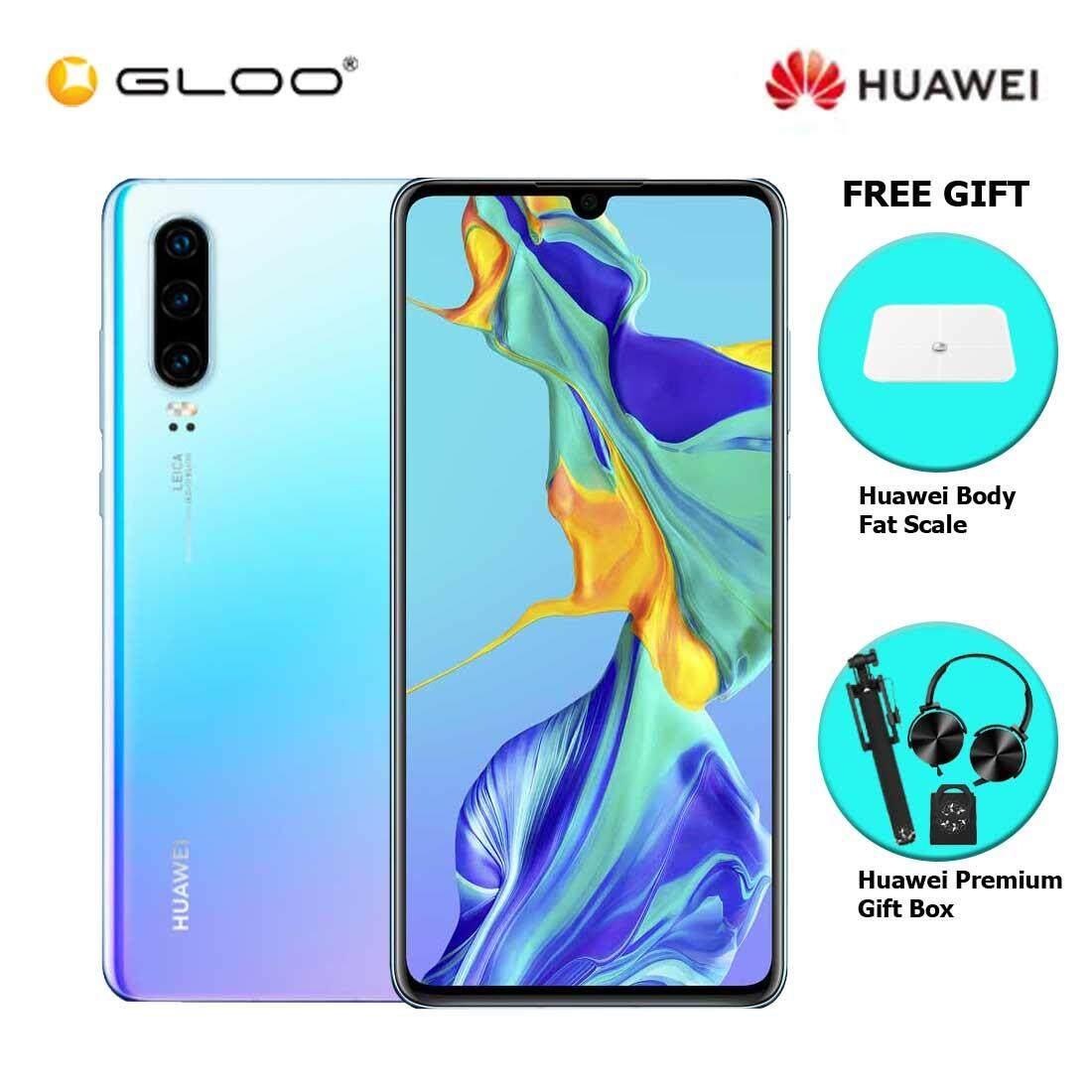 Huawei P30 8GB+128GB Breathing Crystal + FREE Huawei Body Fat Scale 6901443198375,Premium Gift Box (Headset/Selfie Stick/iRing)