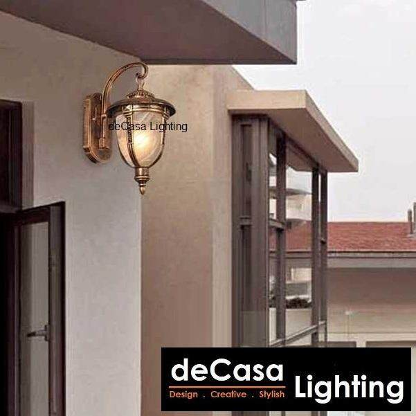 Best Seller Outdoor Lighting S Size Outdoor Wall Light Decasa Lighting Wall Lamp Lampu Hiasan Dinding (OD-W5031-AB-S)