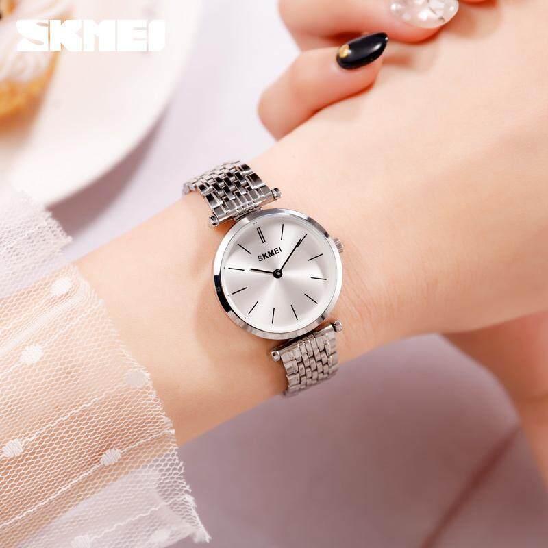 SKMEI 1458 ควอร์ทซ์แฟชั่นลำลองนาฬิกาผู้หญิง 30 M โลหะกันน้ำไม่ขึ้นสนิมผู้หญิงนาฬิกาข้อมือเล็ก Dial ผู้หญิงนาฬิกา