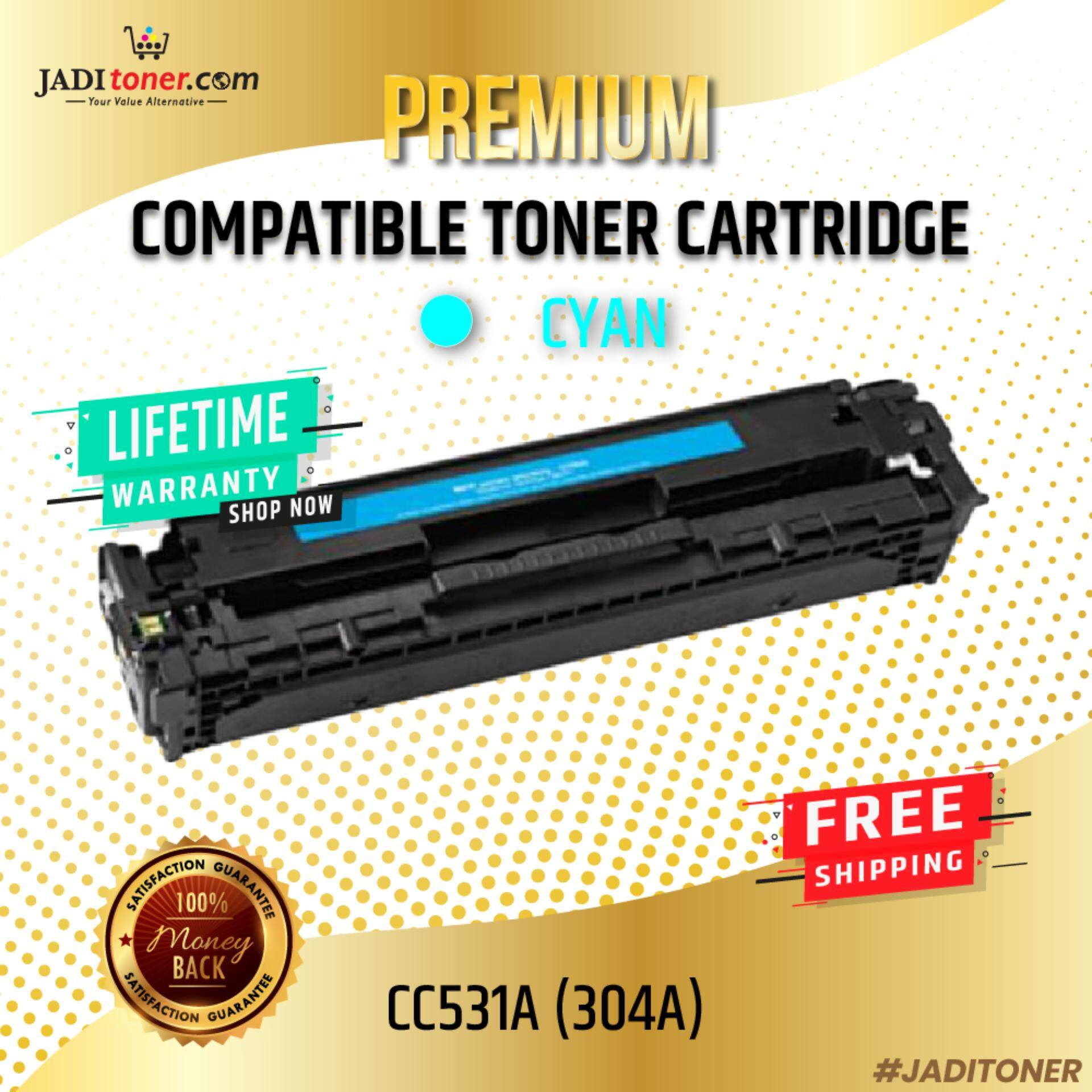 Compatible CC531A 304A Cyan Laser Toner Cartridge For HP Color LaserJet CP2020 / HP Color LaserJet Pro CP2024 / HP Color LaserJet Pro CP2025 / HP Color LaserJet Pro CP2026 / HP Color LaserJet Pro CP2027 / HP Color LaserJet Pro CM2320 MFP HP CC531 531A