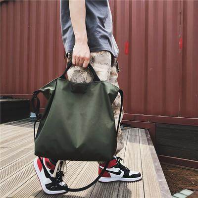 Men Korean Fashion Large Messenger Nylon Shoulder Bag