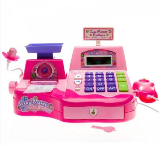 Kids Electronic Cash Register Pretend Play Toy