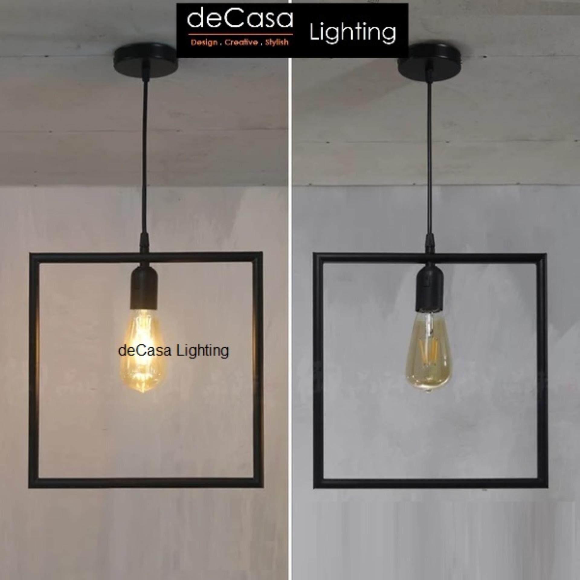 DECASA Pendant Light (JL-SQUARE-BK)