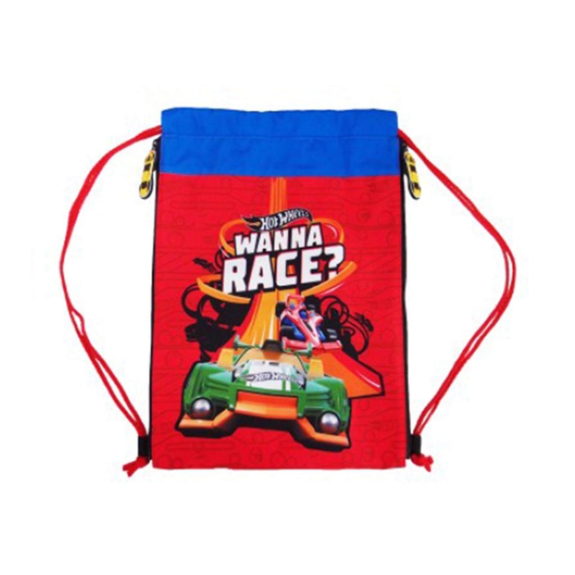 Hot Wheels Drawstring Bag - Red Colour