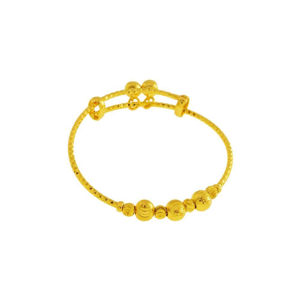 GJ Jewellery Emas Korea 24k Gelang Tangan Budak - Adjustable Kids Bangle (GJJ-99619-1)