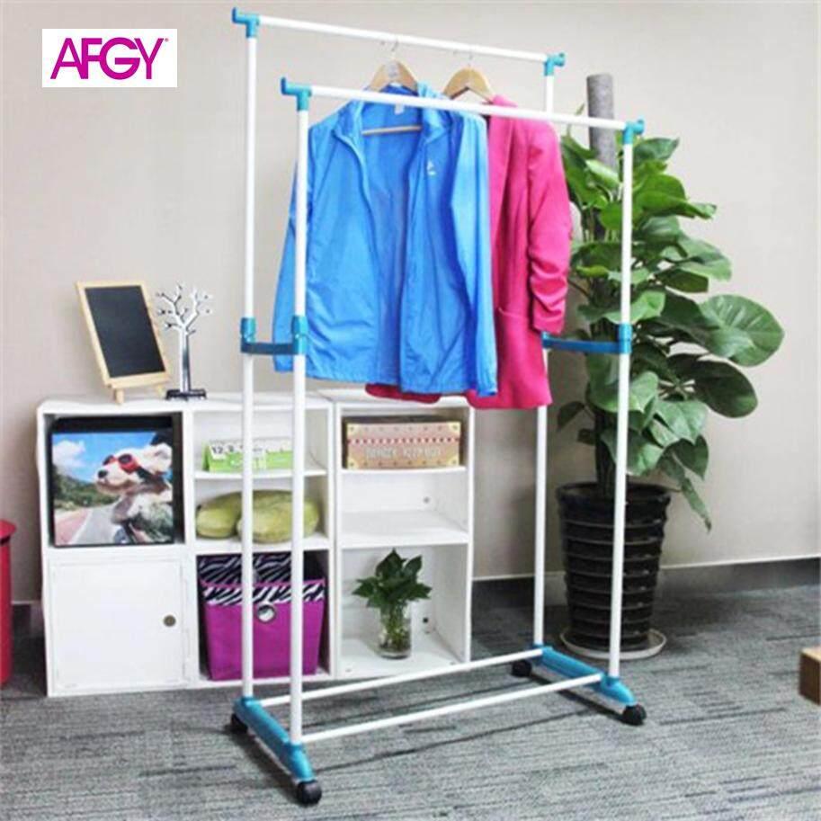 AFGY FGR 112 (BLUE) Flexi Double Pole Garment Rack