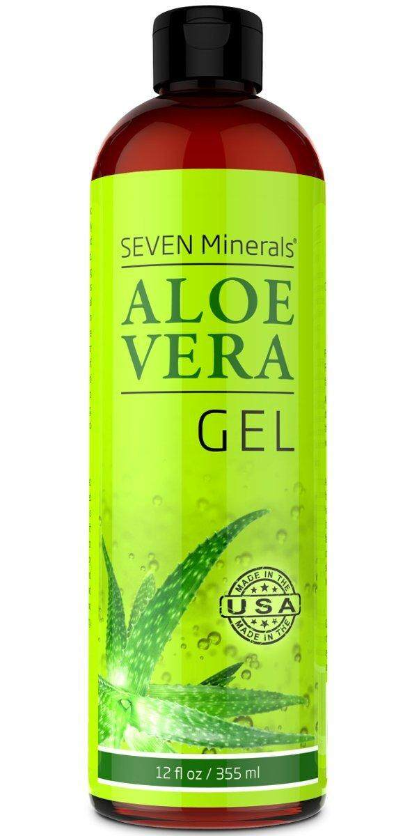 Organic Aloe Vera Gel with 100% Pure Aloe from FRESHLY CUT Aloe Plant, not powder - NO XANTHAN, so it absorbs rapidly with No sticky residue - Big 12 oz (355ml)